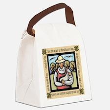 Vegetarian da Vinci Quote Canvas Lunch Bag