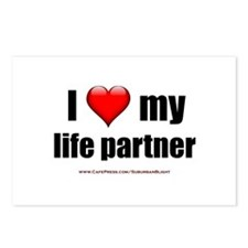 """Love My Life Partner"" Postcards (Package of 8)"