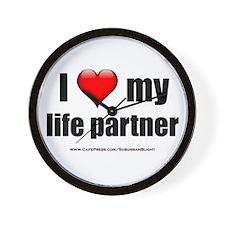 """Love My Life Partner"" Wall Clock"
