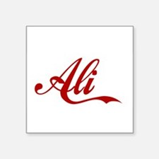 "Ali name Square Sticker 3"" x 3"""