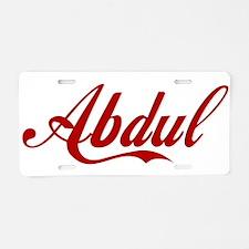 Abdul name Aluminum License Plate