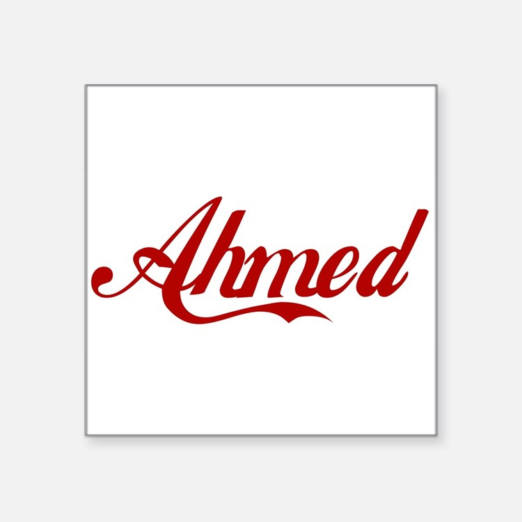 "Ahmed name Square Sticker 3"" x 3"""
