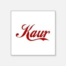 "Kaur name.png Square Sticker 3"" x 3"""