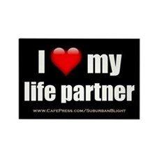 """Love My Life Partner"" Rectangle Magnet"