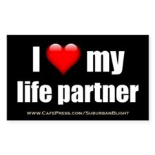 """Love My Life Partner"" Decal"