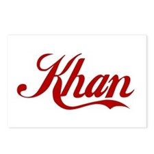 Khan name Postcards (Package of 8)