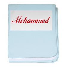 Mohammed name baby blanket