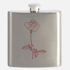 Long Stem Rose Flask