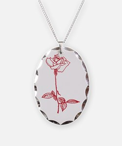 Long Stem Rose Necklace