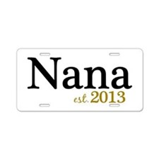 New Nana Est 2013 Aluminum License Plate