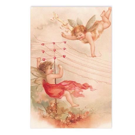 Cupid Angel 4 Postcards (Package of 8)