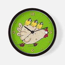 Race Chicken Wall Clock