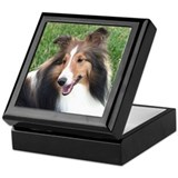 Shelties Square Keepsake Boxes