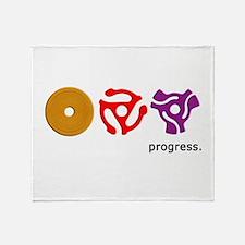 Spindle Progress Throw Blanket