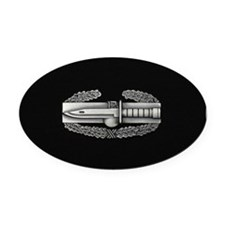 Combat Action Badge Oval Car Magnet