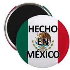 Made in Mexico - With Flag Magnet