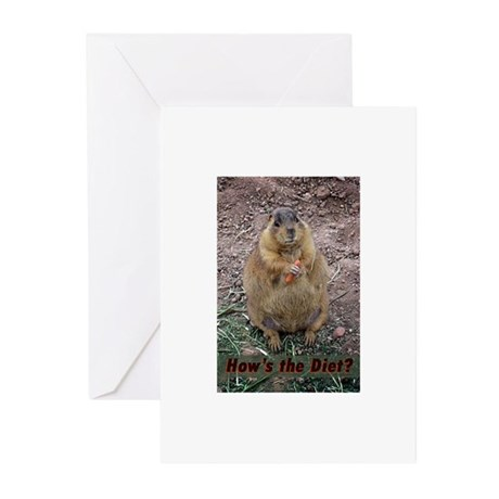 Hows The Diet Greeting Cards (Pk of 10)