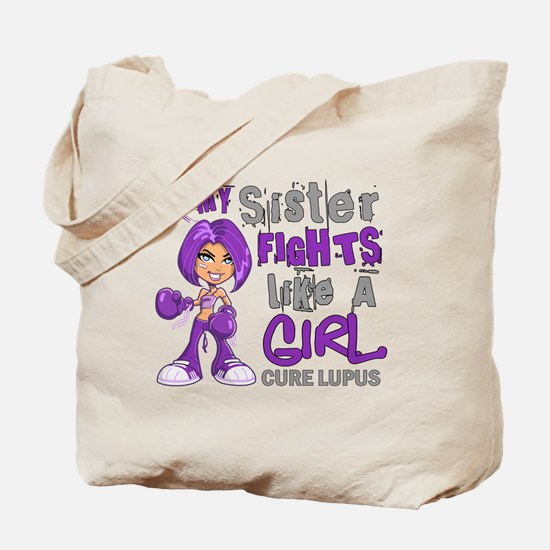 Licensed Fight Like a Girl 42.9 Lupus Tote Bag