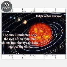 The Sun Illuminates - Ralph Waldo Emerson Puzzle