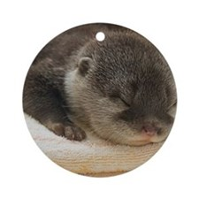 Sleeping Otter Ornament (Round)