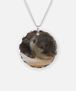 Sleeping Otter Necklace