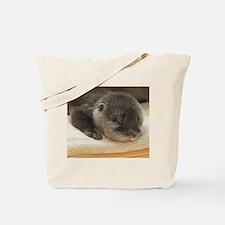 Sleeping Otter Tote Bag