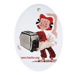 Toaster Girl Oval Ornament