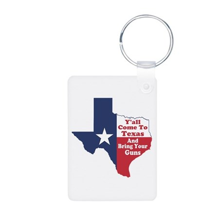Yall Come to Texas Aluminum Photo Keychain