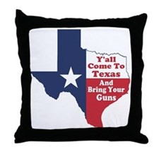 Yall Come to Texas Throw Pillow