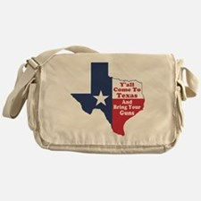 Yall Come to Texas Messenger Bag