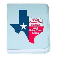 Yall Come to Texas baby blanket