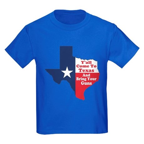 Yall Come to Texas Kids Dark T-Shirt