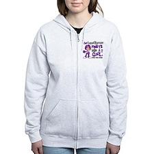 Licensed Fight Like a Girl 42.9 Zip Hoody