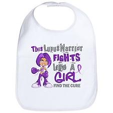 Fights Like a Girl 42.9 Lupus Bib