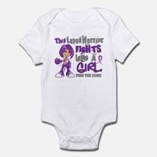 Licensed Fight Like a Girl 42.9 Lu Infant Bodysuit