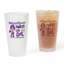 Licensed Fight Like a Girl 42.9 Lup Drinking Glass