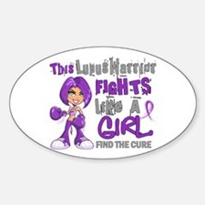Licensed Fight Like a Girl 42.9 Lup Stickers