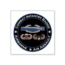"CIB Airborne Air Assault Square Sticker 3"" x 3"""