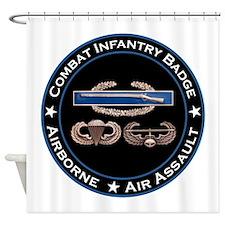 CIB Airborne Air Assault Shower Curtain
