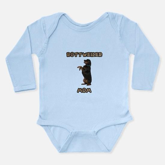 Rottweiler Mom Long Sleeve Infant Bodysuit