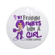 Licensed Fight Like a Girl 42.9 L Ornament (Round)
