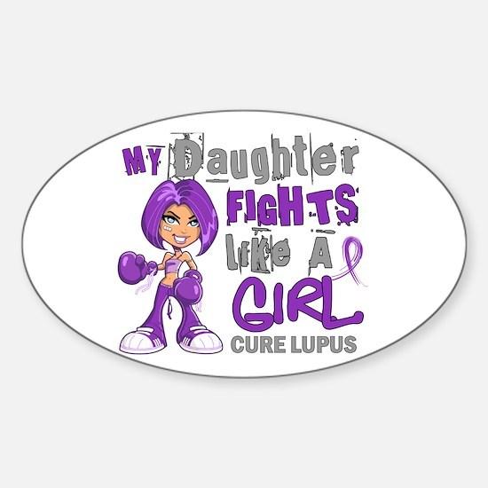 Fights Like a Girl 42.9 Lupus Sticker (Oval)