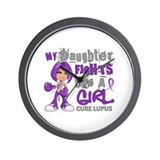 Fights Like a Girl 42.9 Lupus Wall Clock