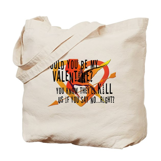 Hunger games valentines day t shirt tote bag by listing for T shirt tote bag