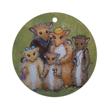 Woodhill Whiskers Mouse Family Ornament (Round)