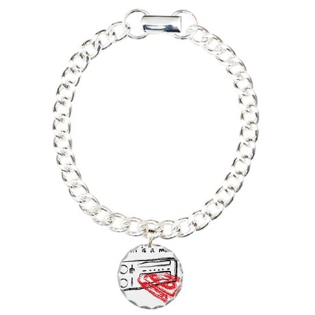 Heaven Is A Mix Tape Charm Bracelet, One Charm
