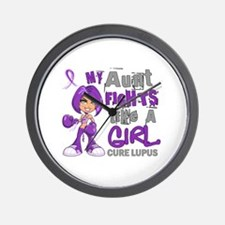 Licensed Fight Like a Girl 42.9 Lupus Wall Clock