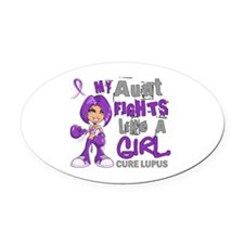 Licensed Fight Like a Girl 42.9 Lu Oval Car Magnet