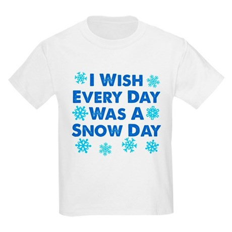 Every Day A Snow Day Kids Light T-Shirt