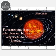 For Astronomy Is Not Only Pleasant - John Calvin P